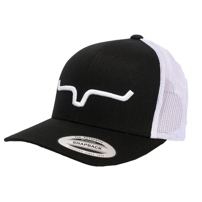 a0c23cce97a83 Kimes Ranch Black and White Trucker Cap