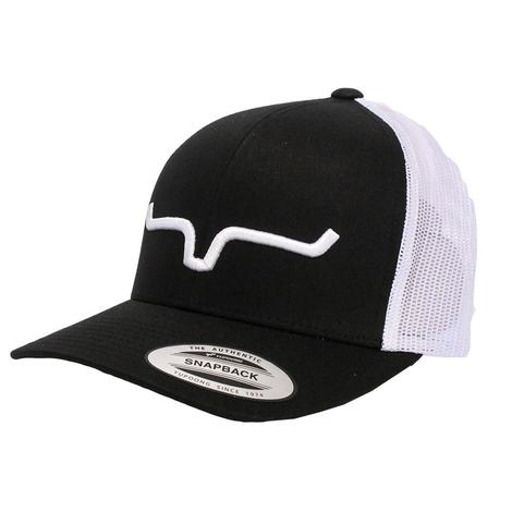 Kimes Ranch Black and White Trucker Cap