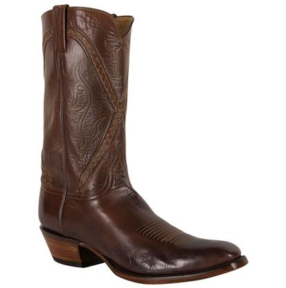 Handcrafted Lucchese Classics Whiskey Burn Baby Buffalo Roper Boot