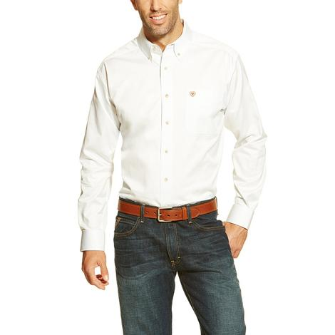 Ariat Men's White Longsleeve Button Down Shirt