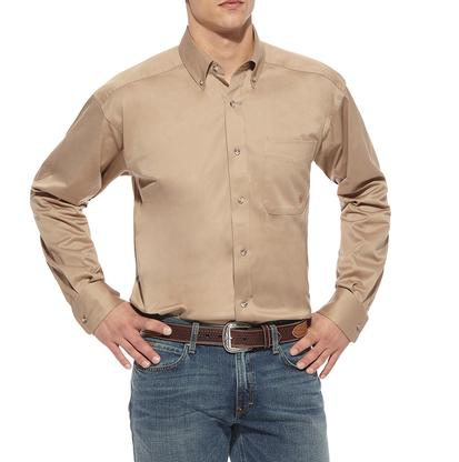 Ariat Mens Khaki Long Sleeve Button Down Shirt