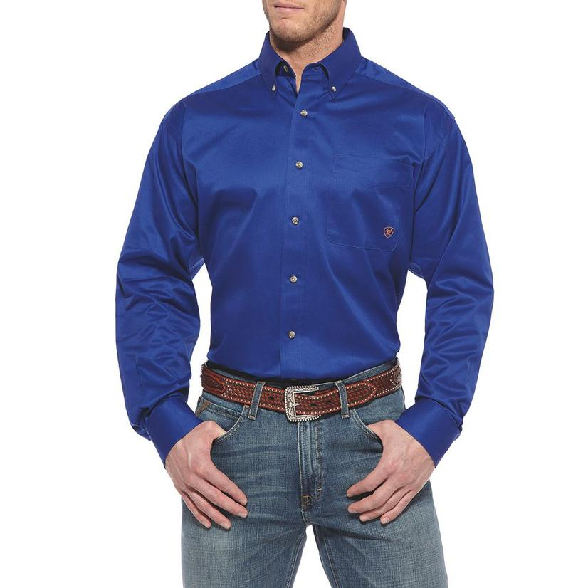 Ariat Mens Ultramarine Long Sleeve Button Down Shirt