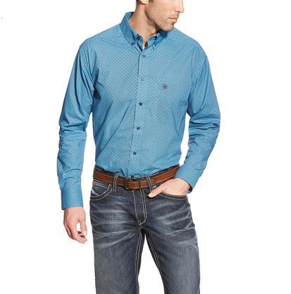 Ariat Mens Blue Orland Print Western Shirt