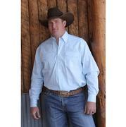 Miller Ranch Mens Western Shirt - Light Teal/White