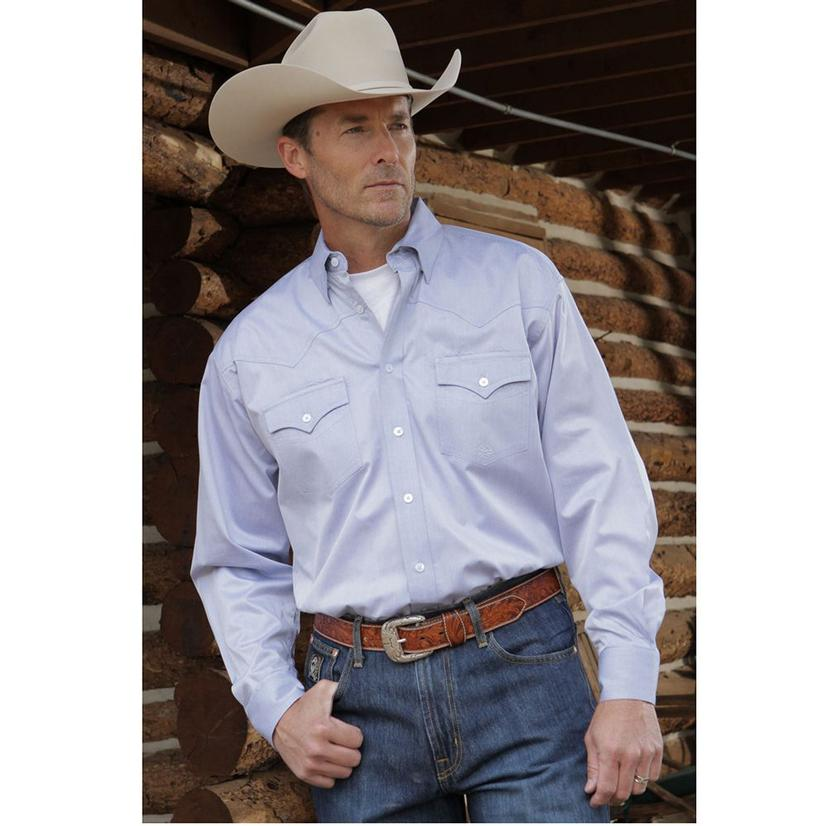 Miller Ranch Mens Western Shirt - Blue