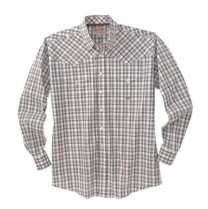 Miller Ranch Mens Western Shirt - Red/Black Plaid
