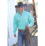 Cinch Men's Solid Long Sleeve - Green - XXXL