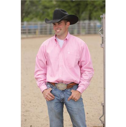 Cinch Mens Solid Long Sleeve - Pink