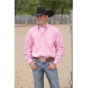 Cinch Mens Solid Long Sleeve - Pink