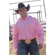 Cinch Mens Solid Pink Long Sleeve XXXL