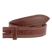 Plain Double Stitched Leather Belt