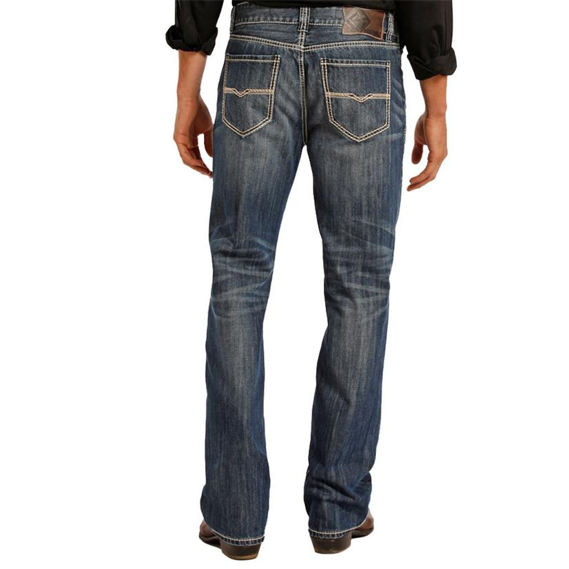 Rock & Roll Cowboy Mens Double Barrel Straight Leg Jeans