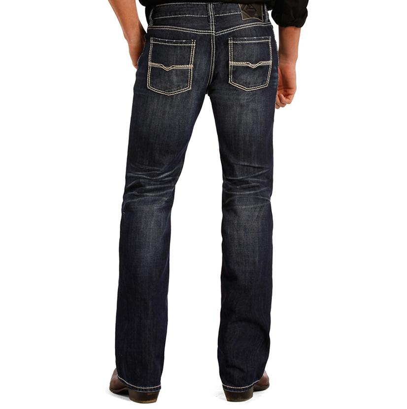 Rock & Roll Cowboy Mens Pistol Low Rise Straight Leg Jean