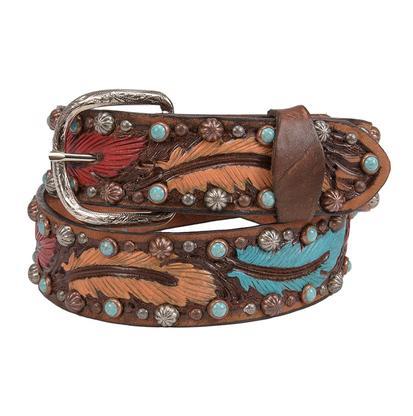 Double J Color It Feathers Belt