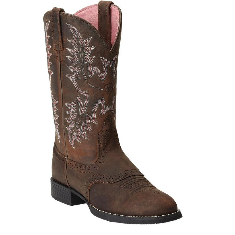 Ariat Women's Heritage Stockman Driftwood Brown Boots