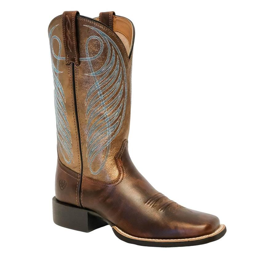 Ariat Womens Round Up Square Toe Boots