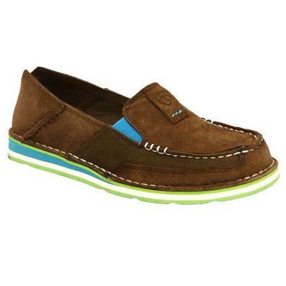 Ariat Turquoise and Palm Brown Cruiser Womens Shoe
