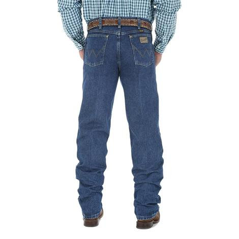 George Strait Wrangler Mens Cowboy Cut Western Jeans (Extended Waist)