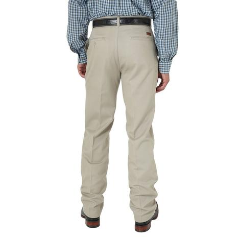 Wrangler Mens Riata Pleated Front Relaxed Fit - Khaki