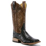 Rod Patrick Black Caiman Full Belly Boots