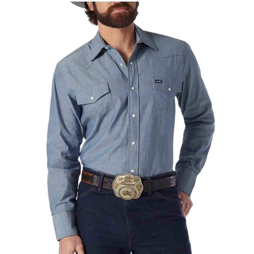 Wrangler Mens Work Western Shirt