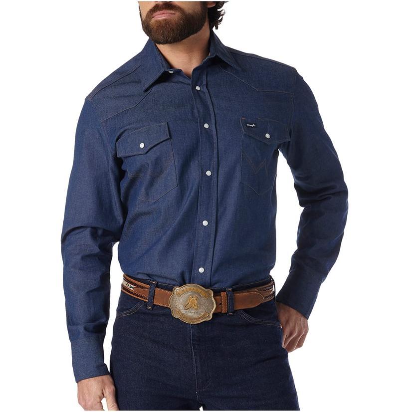 Wrangler Mens Western Work Shirt