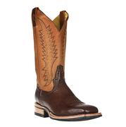 Rod Patrick Chocolate Smooth Quill Ostrich Boots