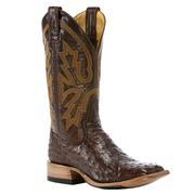 Rod Patrick Chocolate Full Quill Ostrich Boots