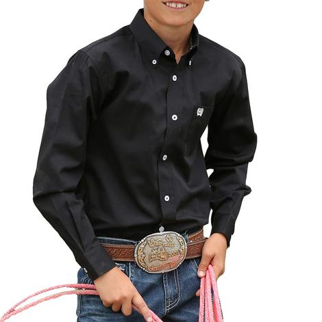Cinch Boys Solid Show Shirt - Black