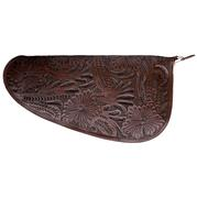 Chocolate Floral Pistol Case (16 ½ x 7 ¾)