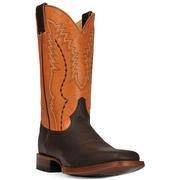 Cinch Mens Orange and Brown Boarhide Boots