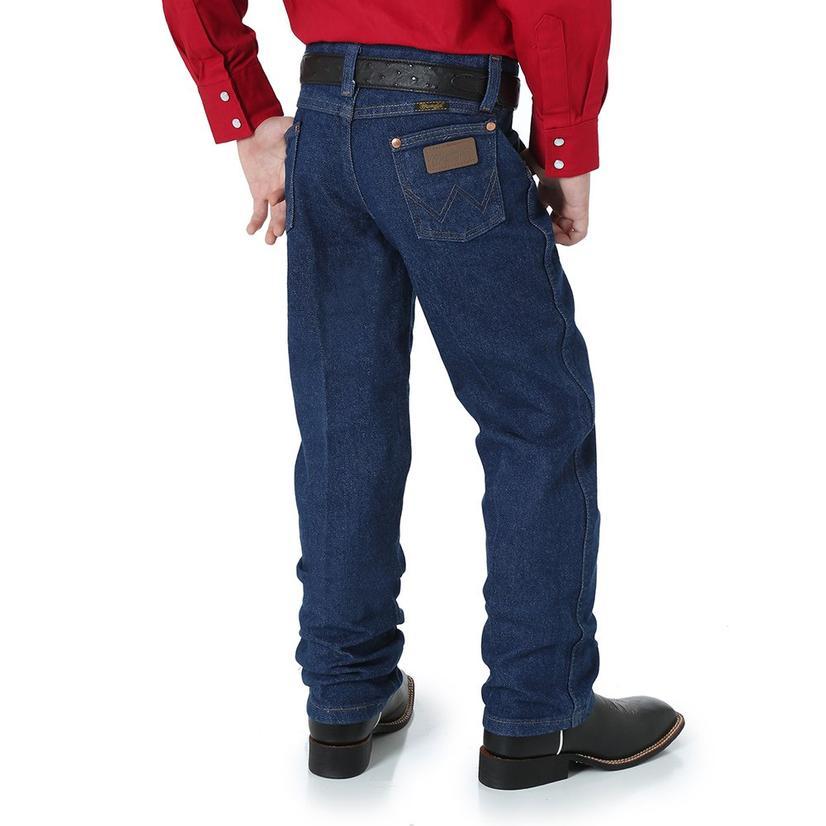 Wrangler Boys George Strait Original Cowboy Cut Jeans - Dark Wash