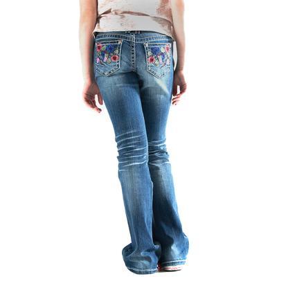 Grace In LA Asian Floral Jeans (4-6X)