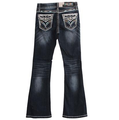 Grace In LA Jeans w/Teal Stitching (4-6X)