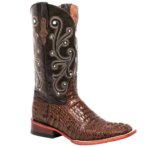Ferrini Mens Sport Rust Crocodile Cowboy Boots