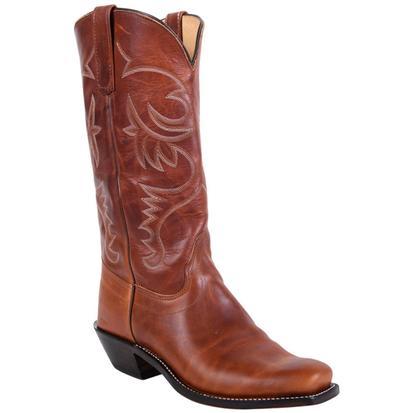 Olathe Mens Chestnut Cowboy Boots