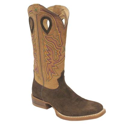 Twisted X Mens Ruffstock Tobac Hippo Cowboy Boots