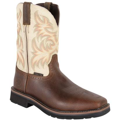 Justin Copper Kettle Cowhide Stampede Steel Toe Work Boots
