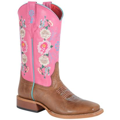 Macie Bean Kids' Honey Bunch and Rose Lizard Print Boots