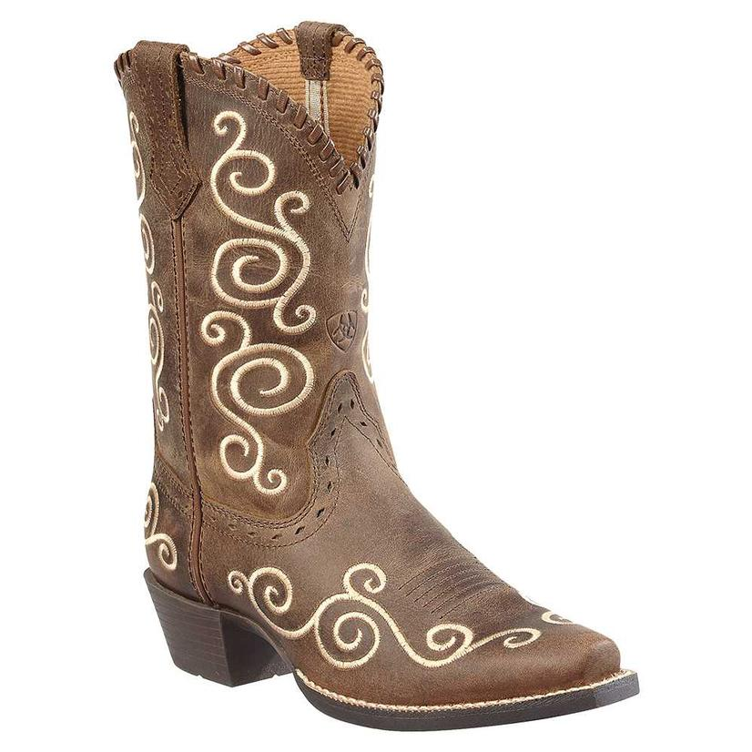 Ariat Kids ' Shelleen Distressed Cowboy Boots