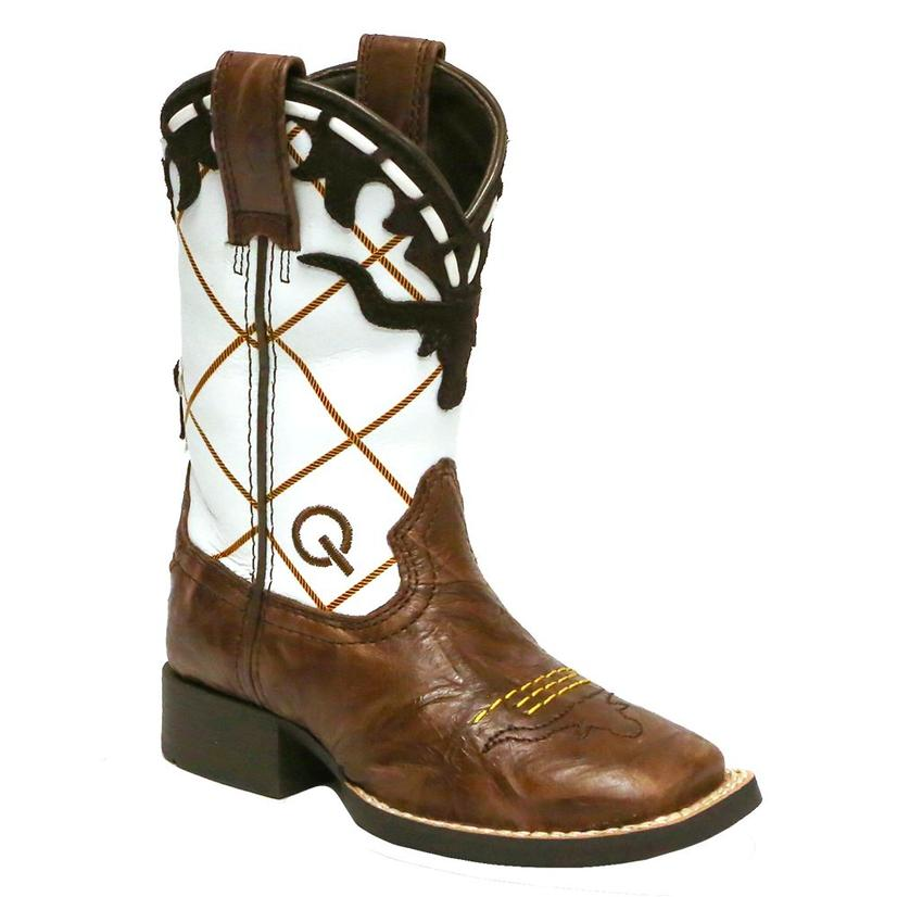 Ariat Dakota Brown And White Dogger Kid's And Youth Boots