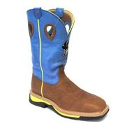 Twisted X Neon Blue Lite Cowboy Work Boots