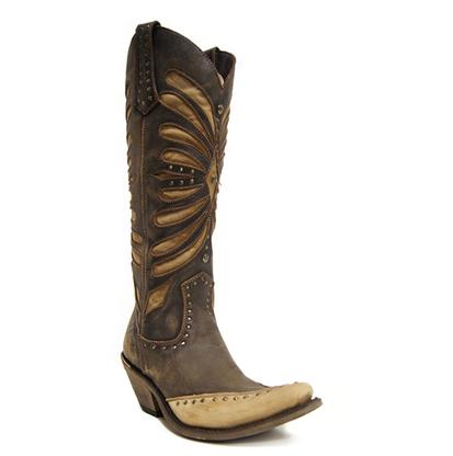 Liberty Black Tall Vintage Cafe Western Boots