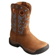 Twisted X Women's All Around Distressed Saddle/Saddle Boot