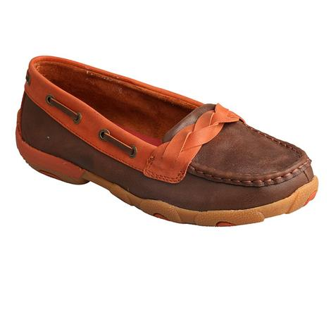 Twisted X Womens Driving Moc Brown / Sunburn