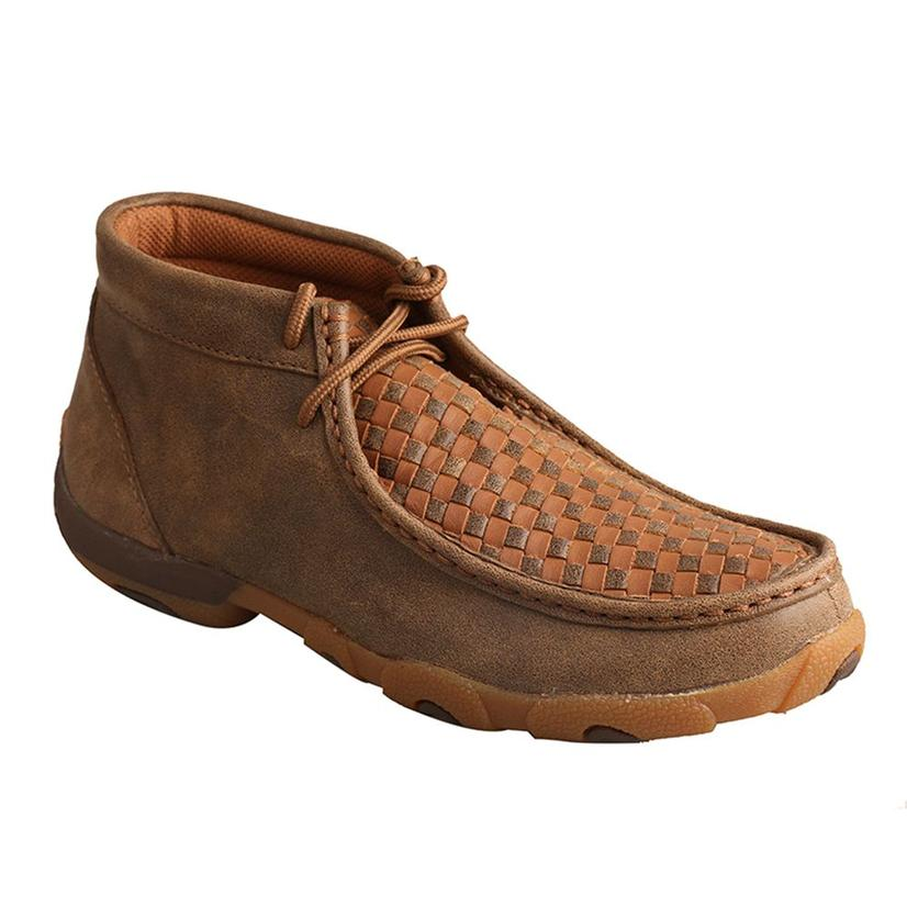 Twisted X Womens Driving Moc Bomber/Tan