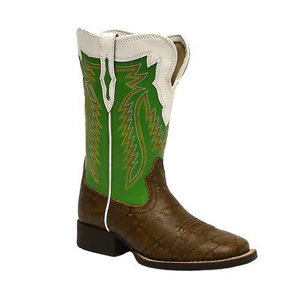 Ariat Boys ' Elephant Print Buscadero Cowboy Boots