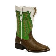 Ariat Boys' Elephant Print Buscadero Cowboy Boots