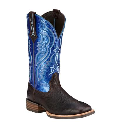 Ariat Mens Fast Time Round Toe Synthetic Blue Western Boot