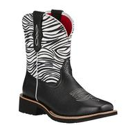 Ariat Ladies Rosie Black Zebra Print Boots